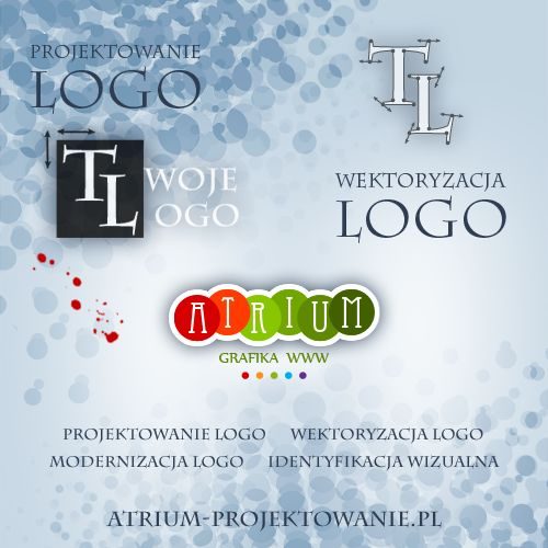 Projektowanie logo dla firm, marek i produktów. Wektoryzacja logo. http://atrium-projektowanie.pl/logo.html