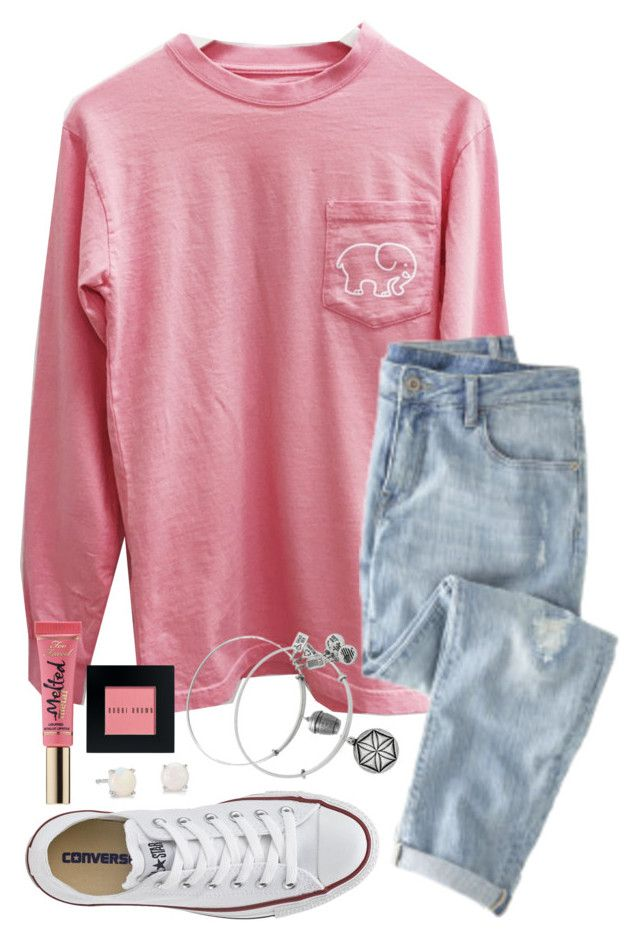 """Want An Ivory Ella Shirt Soo Badd"" by twaayy ❤ liked on Polyvore featuring Wrap, Blue Nile, Converse, Alex and Ani, Too Faced Cosmetics and Bobbi Brown Cosmetics"