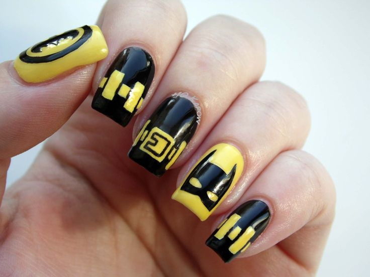 Batman nails for Batman Day