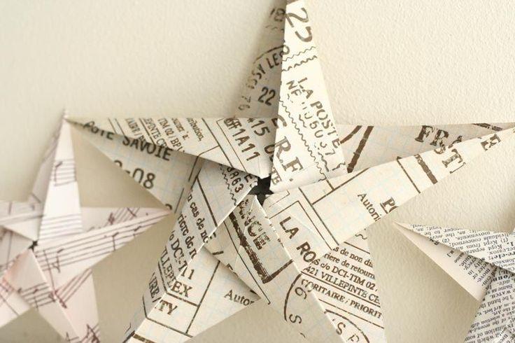 5 заостренный оригами звезда крупным планом