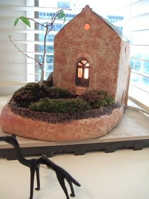 橋口りかさんのミニ盆栽教室1@KUGUIの画像:志乃's スローライフ通信