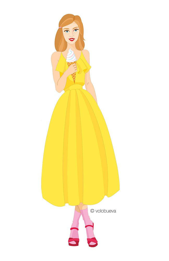 fashion illustration, girl