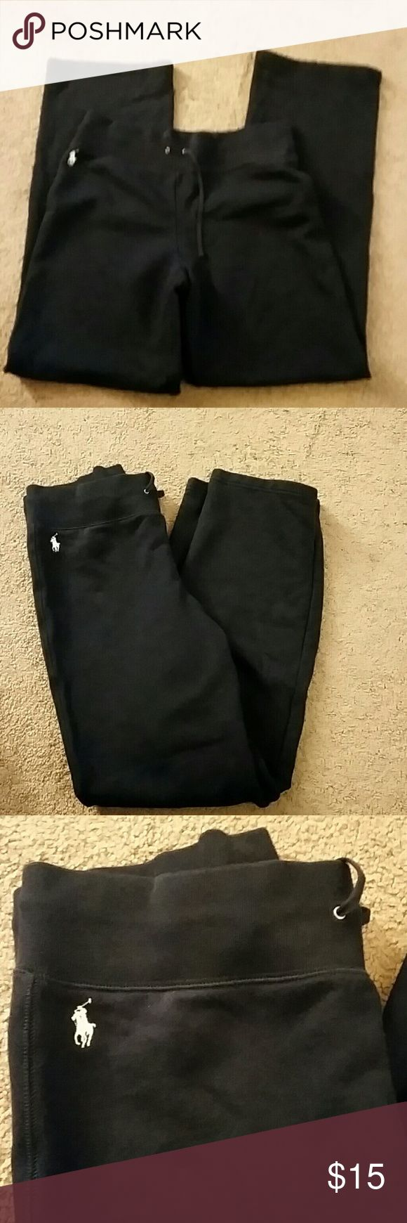 Women's Polo Sweats Stylish Polo sweatpants. In good condition. Navy blue. Polo by Ralph Lauren Pants Track Pants & Joggers