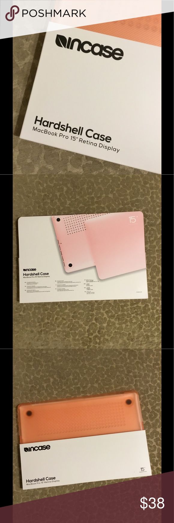 """15"""" Pink MacBook Pro Retina Laptop Case Cover Brand new, I unwrapped it because I didn't know I was getting a new laptop for Christmas! Never used, purchased at Mac store incase Accessories Laptop Cases"""
