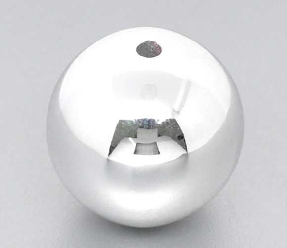 silver Christmas Acrylic Round Beads 20mm, sold per pack of 20