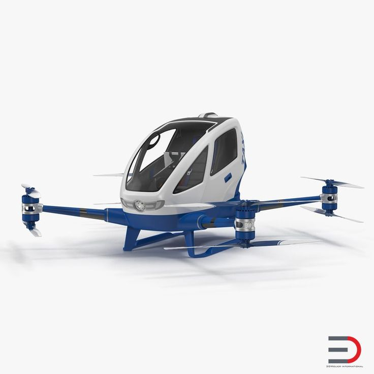 Drone Air Taxi Rigged model