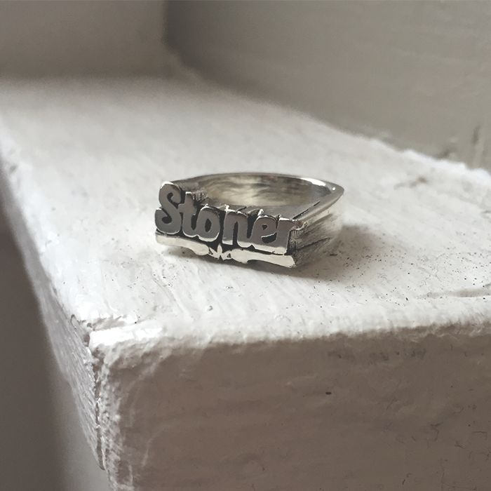 Stoner Stackable Name RIng