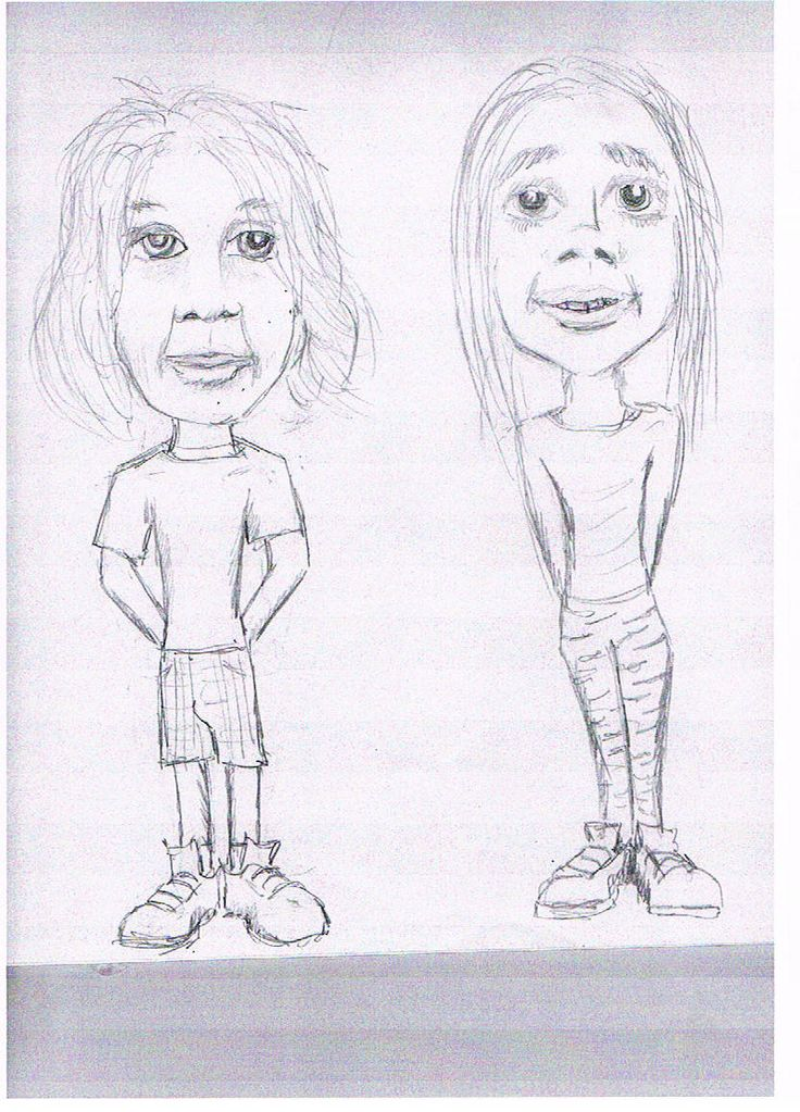 A drawing of Lauren and Freind By Tom