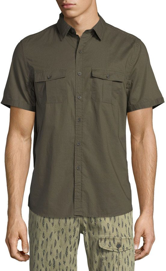 Michael Bastian Safari Cotton Sport Shirt