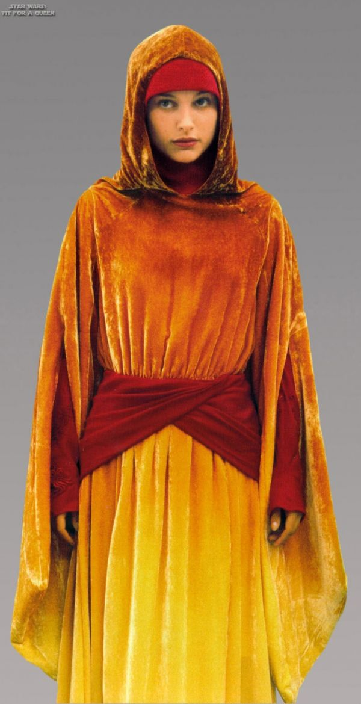 padme amidala flame gown. Amidala wears this when she disguises herself as a handmaiden.