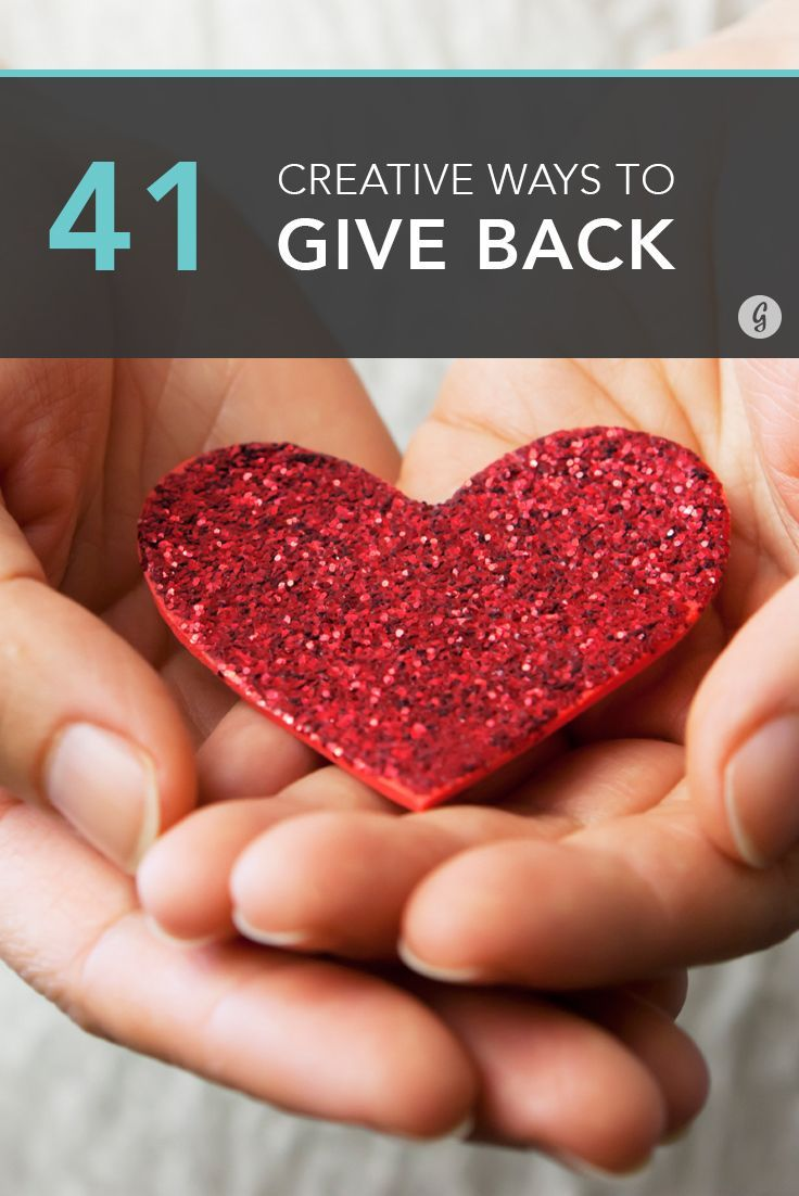41 Ways to Give Back (That Don't Involve Writing a Check) #volunteering #givingback