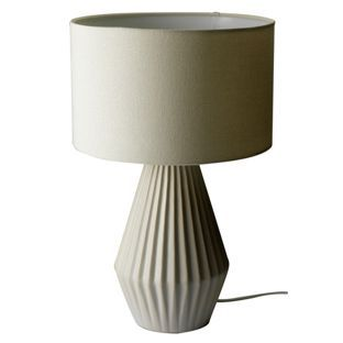 Buy Heart of House Elvington Ribbed Ceramic Table Lamp - Grey at Argos.co.uk, visit Argos.co.uk to shop online for Table lamps