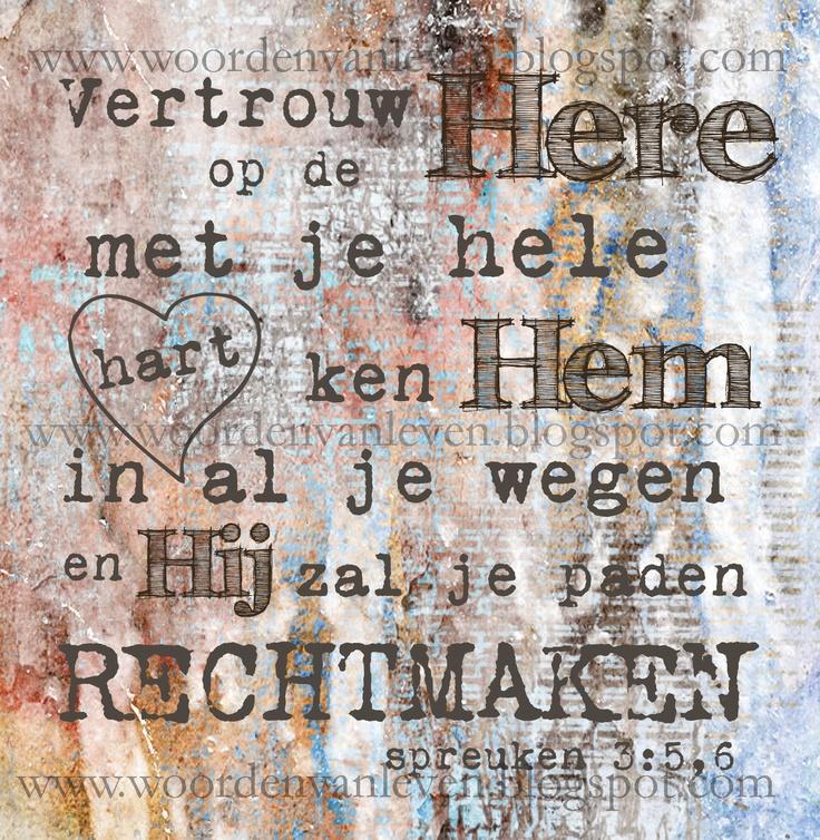 """Canvas ontworpen door Tineke de Raat voor """"Woorden van Leven""""."""