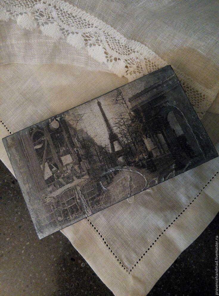 """Купить Купюрница """"Путешествие в Париж"""" - серебряный, серый, темно-серый…"""