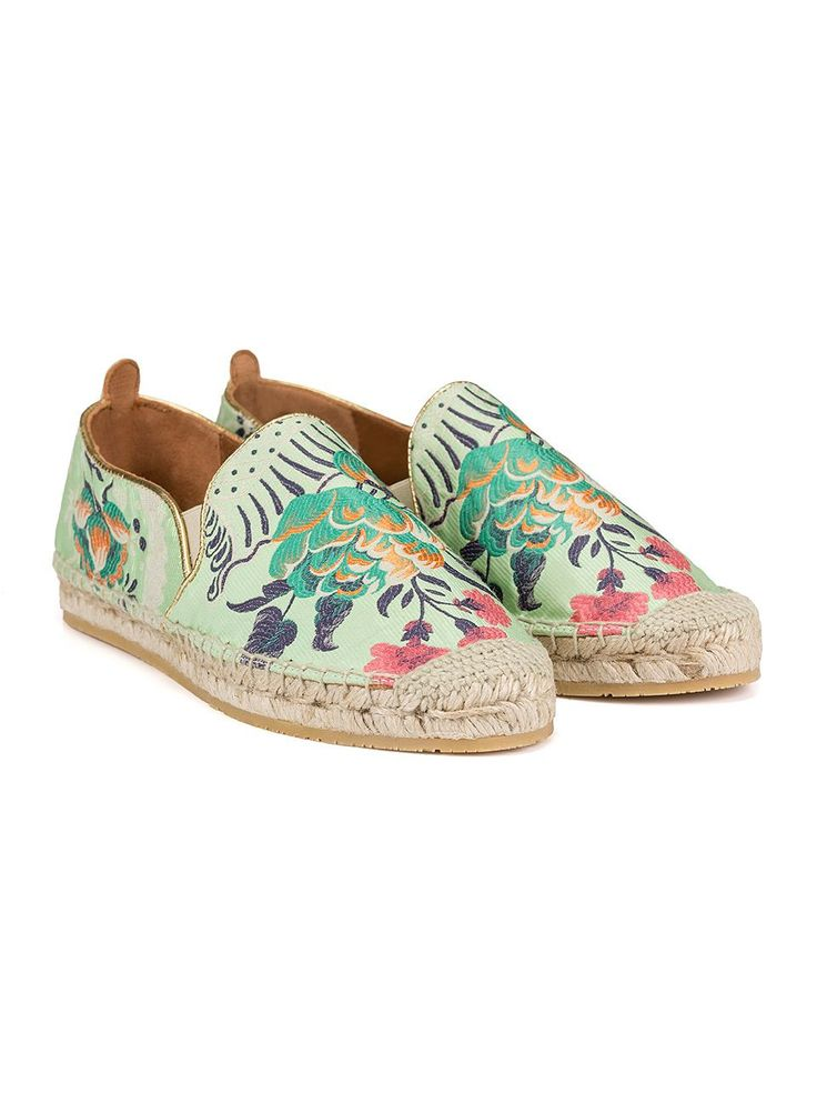 etro jacquard espadrilles with golden piping 11