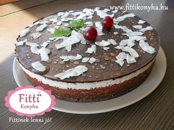 Fitti Konyha: Meggyes-kókuszos-csokis torta (paleo, sütés nélkül)