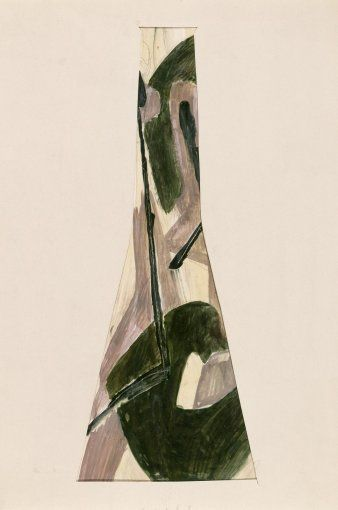 Bohumil Elias, design for glass vase, gaouche on paper, 52,0 x 26,0 cm, VSUP Prague, 1958 - 63