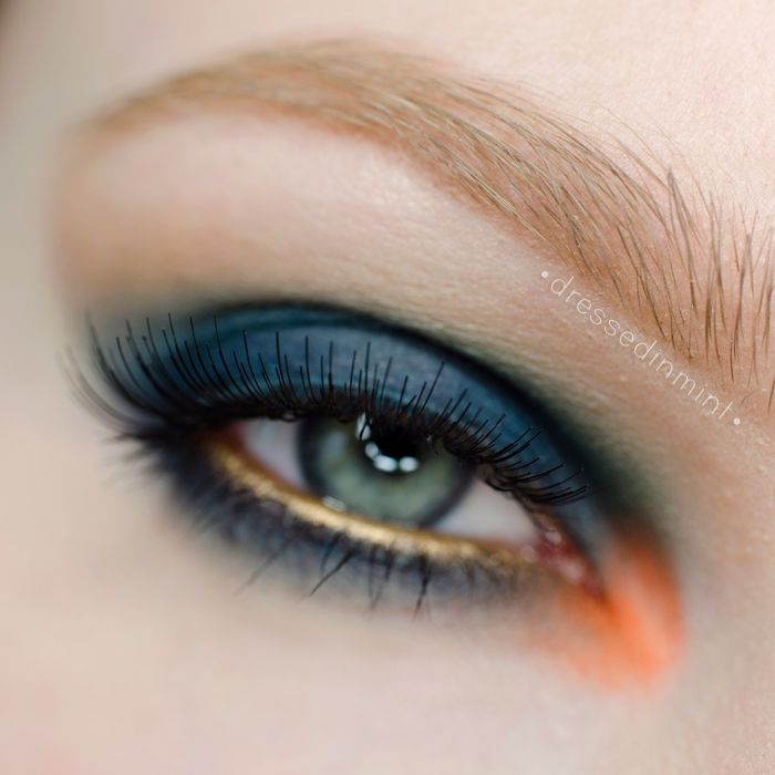 Gorgeous 'BALMAIN Fall/Winter 2014 Inspired Makeup' Idea Gallery look by the sweet and stunning DressedInMint using Makeup Geek eyshadows Beaches and Cream, Peach Smoothie, and Peacock.