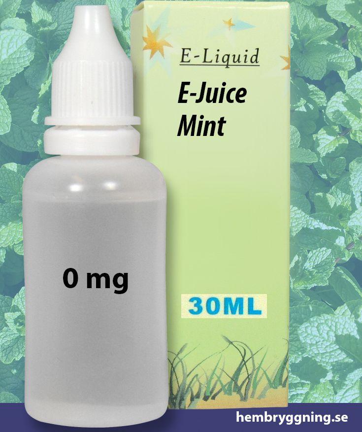 E-Juice Mint 30 ml. 0 mg.