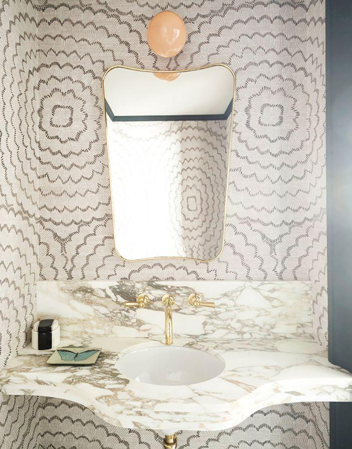 8 Ways To Make A Narrow Room Appear Wider Without Breaking Through Walls Small Bathroom Decor Bathroom Design Luxury Bathroom Wallpaper