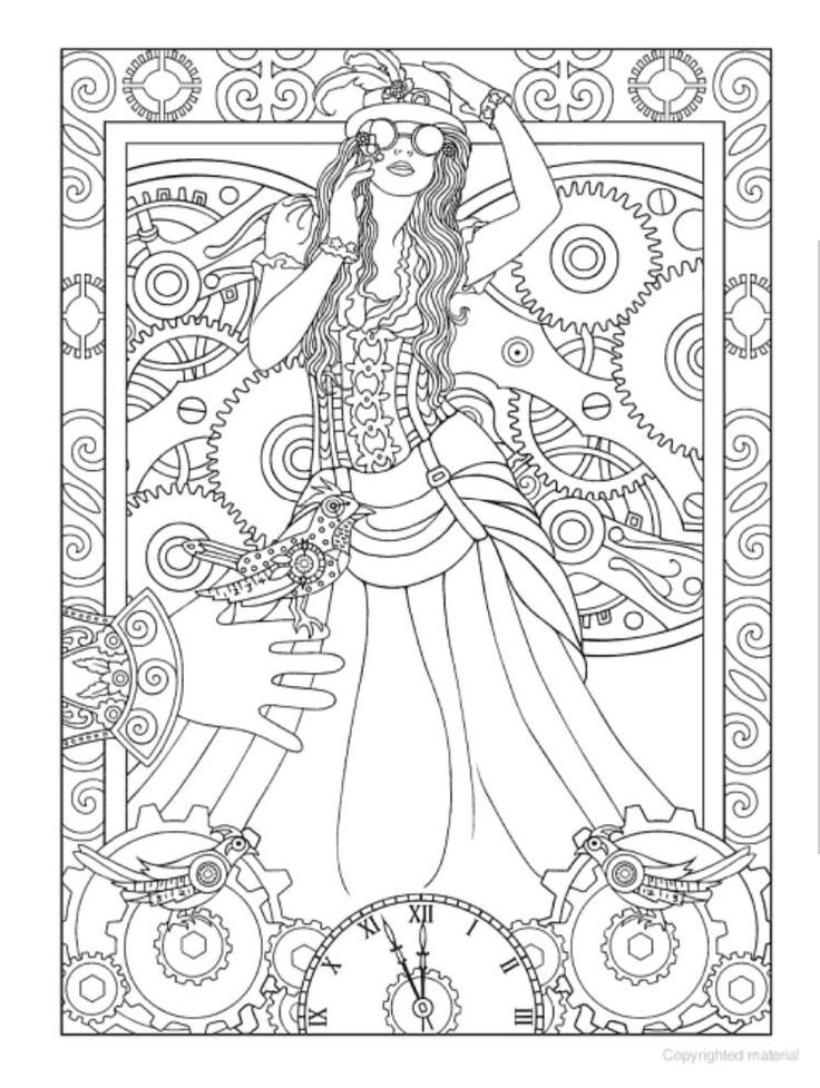 Creative Haven Steampunk Designs Coloring Book Dover Publications By Jan Taylor