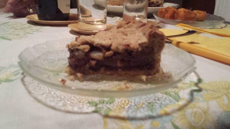 Crostata Pere&Cioccolato, ricetta vegan senza latte e uova - http://www.pilates.salerno.it/2013/09/crostata-pere-mandorle-con-cioccolato-senza-latte-e-uova/