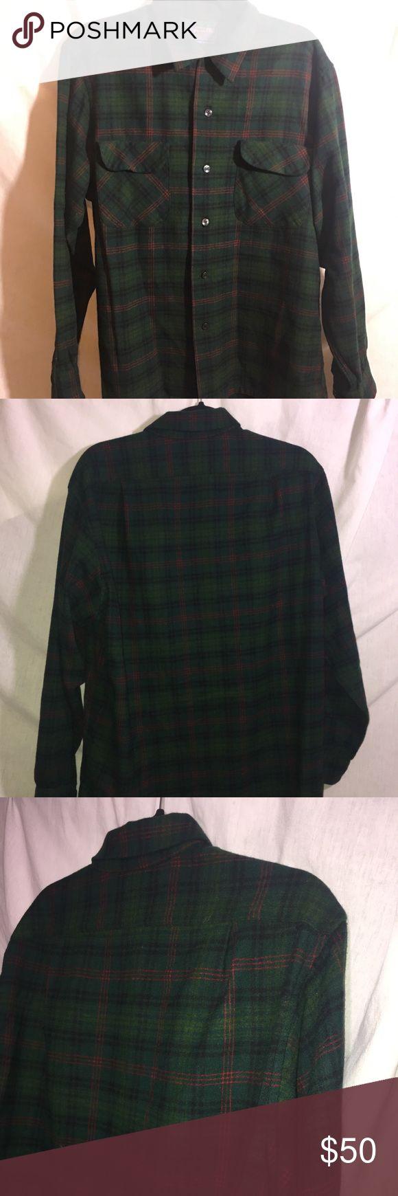 Vintage Men's Pendleton Flannel Very clean Pendleton size Large Pendleton Shirts Casual Button Down Shirts