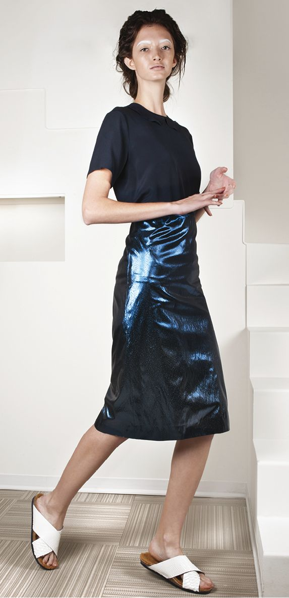 Cochetta shirt + metallic skirt