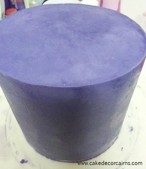 Coloured Ganache Recipe. How to Color ganache instructions. Cake. Cake Decor in Cairns.