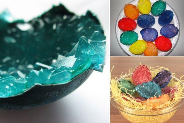 Expériences avec des oeufs - des oeufs de cristal!