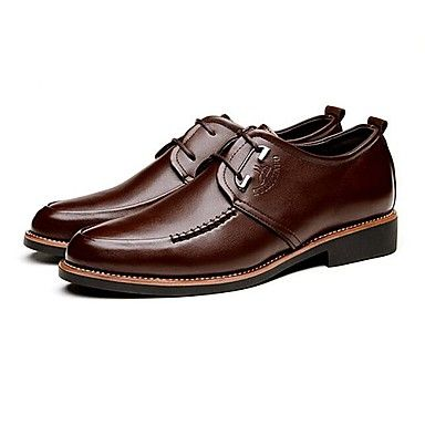 Черный+/+Коричневый+Мужская+обувь+Для+офиса+/+На+каждый+день+Кожа+Оксфорды+–+RUB+p.+1+895,93