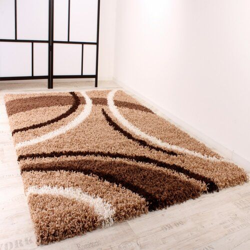 Zipcode Design Joslyn Shag Brown Rug Wayfair.co.uk in