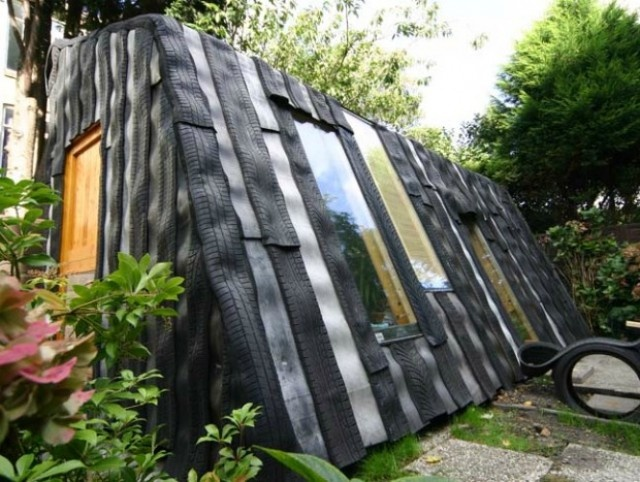 Rubber tire shed...