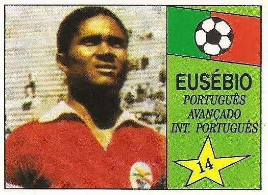 Eusebio. Gran figura de la Selección de Portugal y del Benfica de Lisboa. Años 60 del siglo XX.