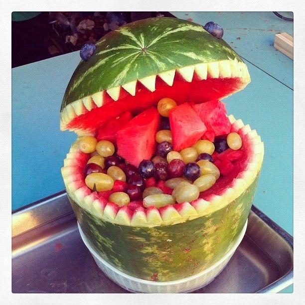 Watermelon monster food fruit food ideas watermelon diy food food pictures fruit art watermelon monster