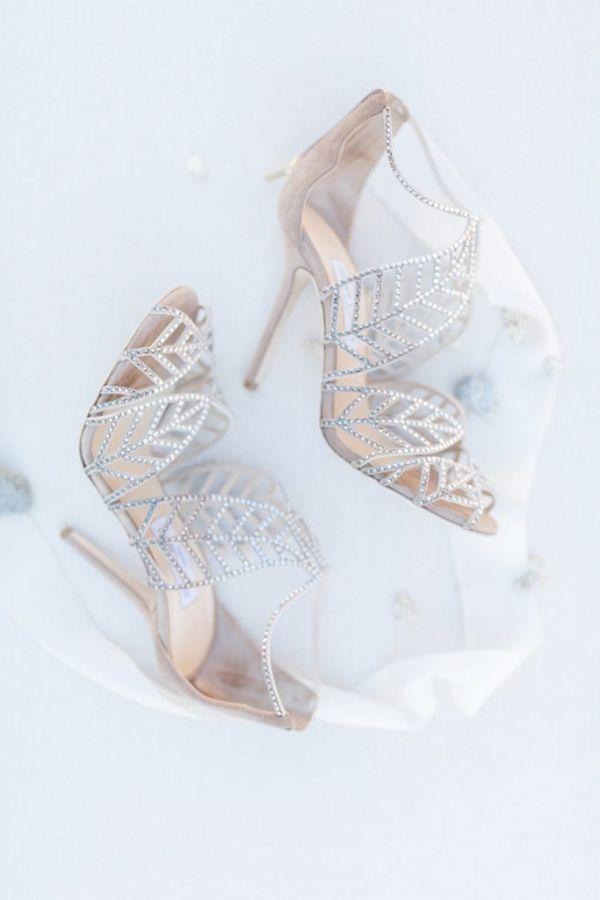 Silver grey Jimmy Choo wedding shoes | Jessica Davies Photography on @blovedblog via @aislesociety