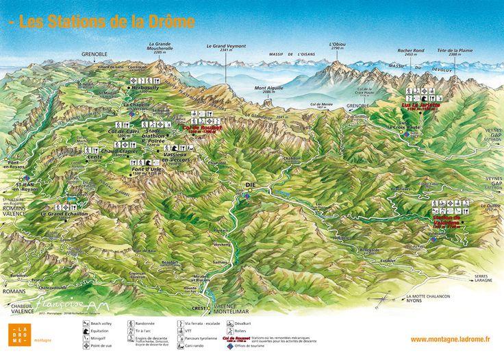 carte-interactive-stations - La Drôme Montagne : toutes les infos sur les stations de la Drôme