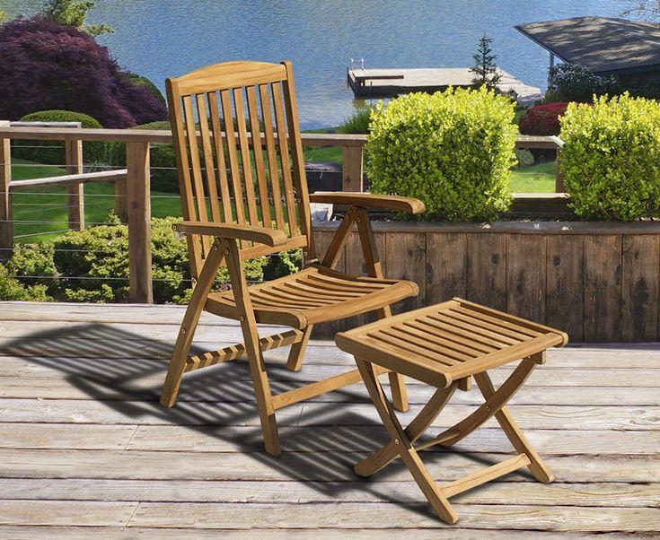 Cheltenham Teak Garden Recliner Armchair u0026 Separate Footstool. Garden ReclinersRecliner ... & The 25+ best Garden recliners ideas on Pinterest | Garden recliner ... islam-shia.org