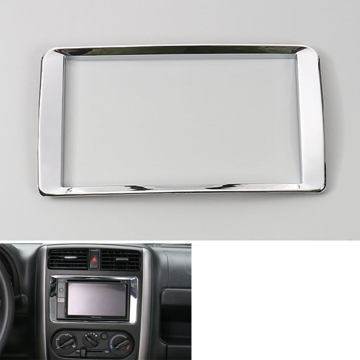 Car Interior ABS Centre Audio GPS Navigation Dashboard Frame Cover Trims Decoration For 2007-2015 Jimny Car Styling