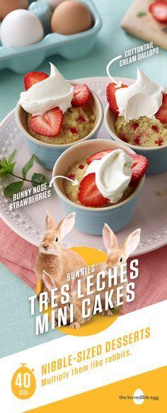 Trois n'est jamais une foule en matière de friandises sucrées et crémeuses! Les lapins   – Deserts