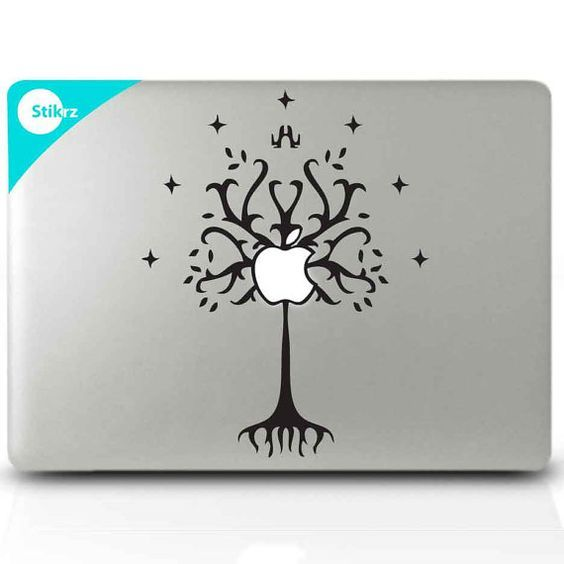 Macbook decal tree of gondor and macbook on pinterest
