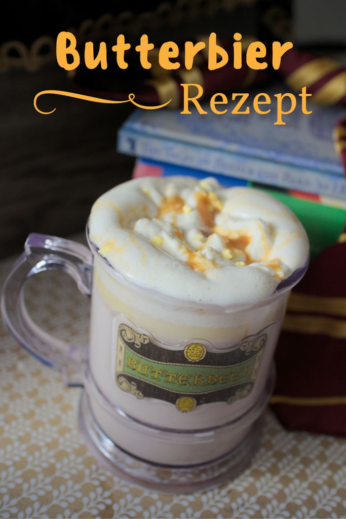 Buttterbier Rezept / Butterbeer Recipe / Selbstgemachtes Butter Bier wie bei Harry Potter / Harry Potter Party