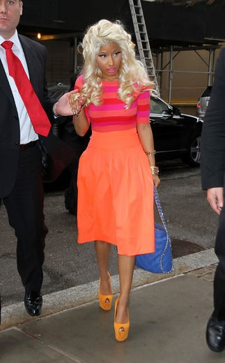 Nicki Minaj: Celeb Style, F My Style, Blonde Hair, Color, Dress, Celebrities Inspirations, Celeb Steez, Celebs, Crazy Style