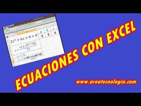 Resolver Ecuaciones con Excel