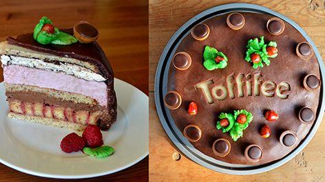 Die Toffifee Himbeer-Torte ist zu immer ein voller Genuss. Wer könnte dieser Kombination aus Biskuit, Baiser und Toffifee Mousse widerstehen? Zum Rezept