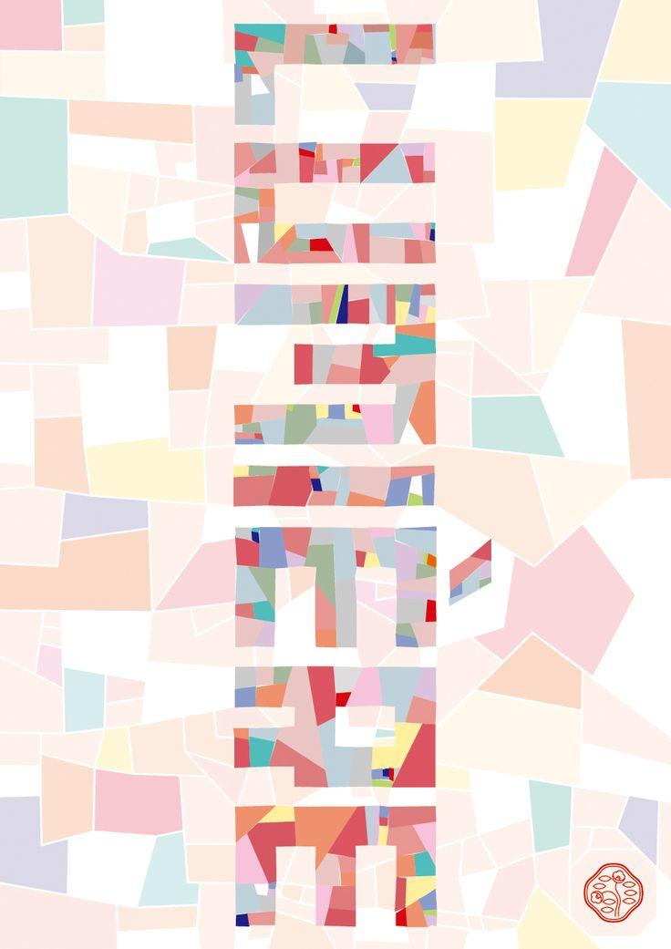 LUMIÈRE | Nao Kakuta 角田 奈緒 | Poster Exhibition 2017.1.5-3.24@Ginza Communication Space : LUMIÈRE Light/Powder/Art Deco 1917→2017→ 「光/白粉/アール・デコ 1917→2017→」  Graphic Design グラフィックデザイン