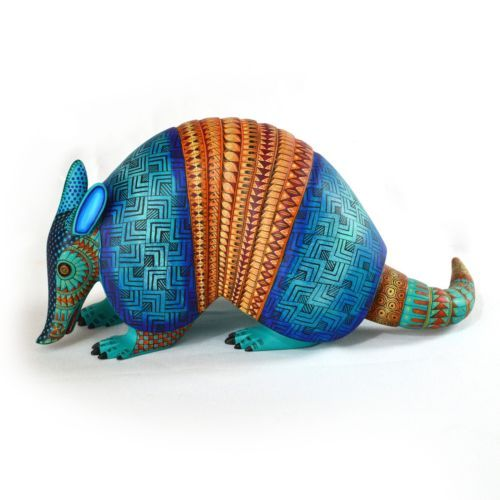 Oaxacan-Wood-Carving-Alebrije-by-Maria-and-Jacobo-Angeles-Armadillo-92