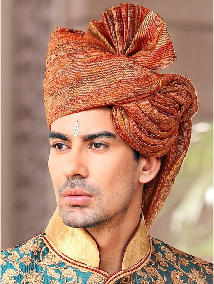 Indian groom - Ethnic Rust Turban