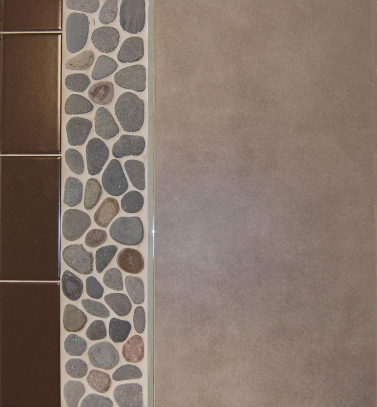 sea green pebble tile border pebble tilescondo remodeltile ideaswall tile