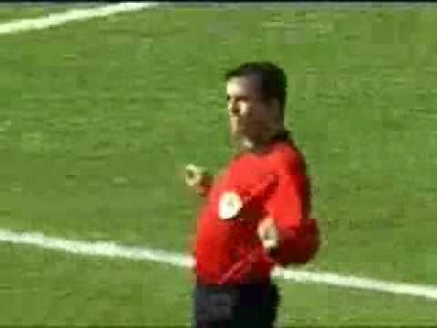Someone on youtube has found the campest looking referee in world football. Watch this, it's funny!